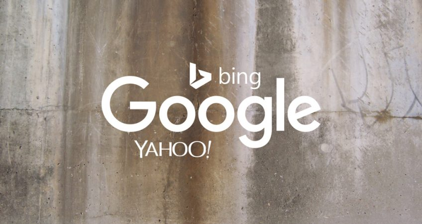 Google, Bing and Yahoo! (logos)