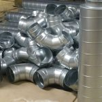 Andrew Engineering Limited ducting parts ready for installation