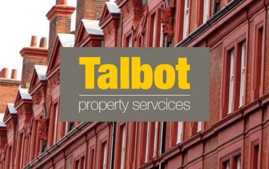 Talbot Property Services (logo on royalty-free residential buildings photograph)