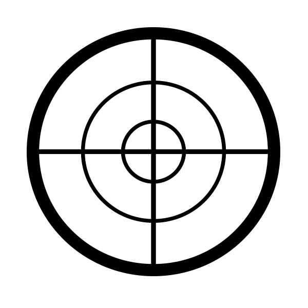 Sights / crosshair icon