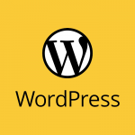 WordPress (logo - mono on yellow)